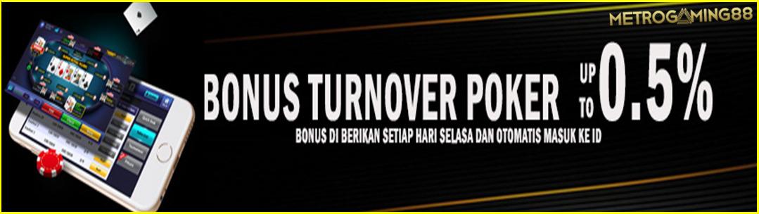 BONUS TURNOVER POKER 0,5%